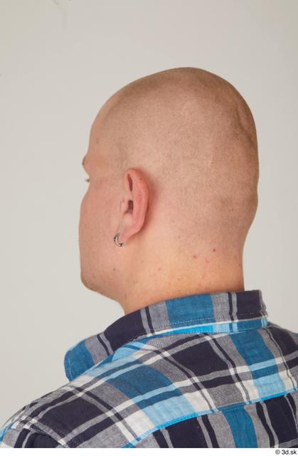 Head Man White Casual Average Bald Street photo references