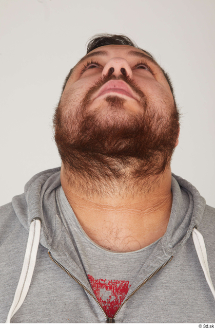 Head Man White Casual Overweight Street photo references