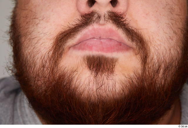 Mouth Man White Casual Overweight Bearded Street photo references