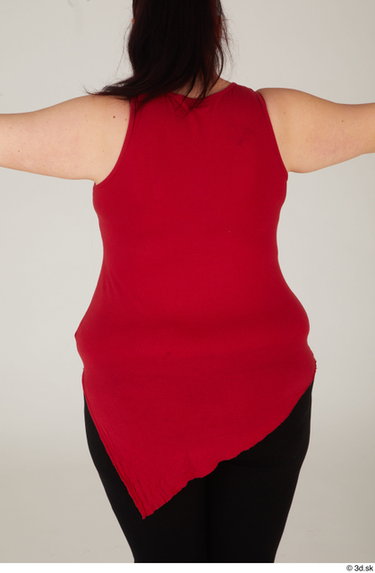 Upper Body Woman White Casual Overweight Street photo references