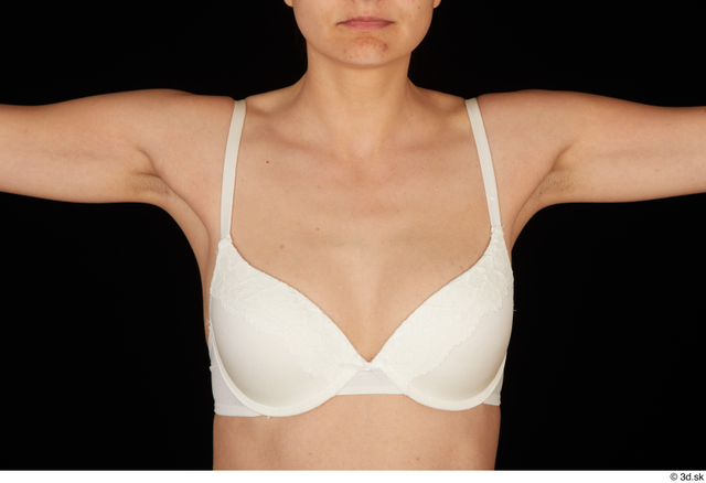 Chest Breast Woman White Underwear Bra Slim Studio photo references