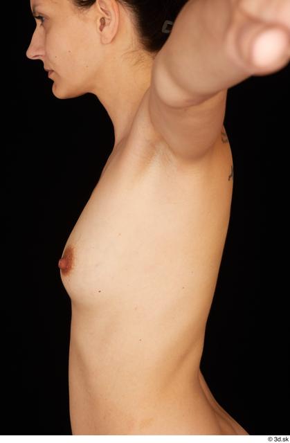 Chest Breast Woman White Nude Slim Studio photo references