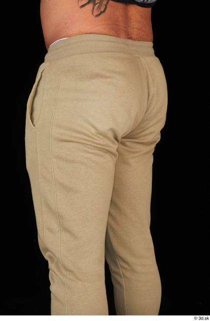 Thigh Man White Sports Muscular Studio photo references