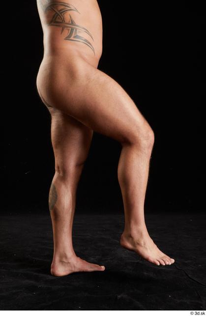 Leg Man White Nude Muscular Studio photo references