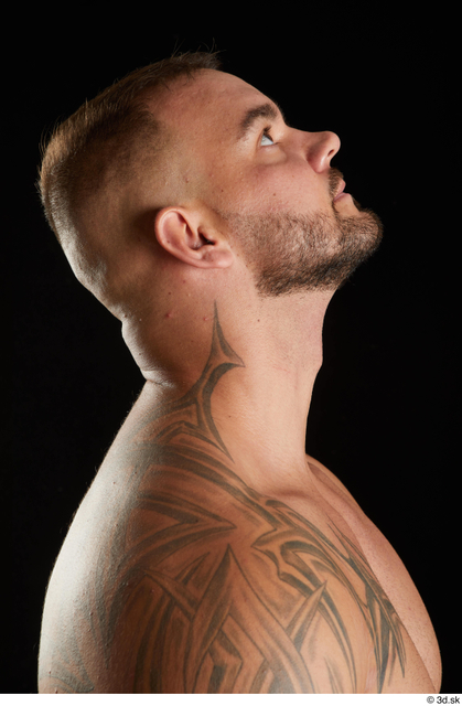 Head Man White Muscular Studio photo references