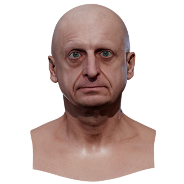 Retopologized 3D Head scan of Milan