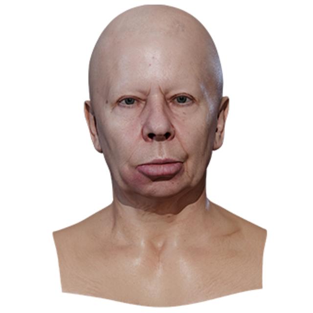 Retopologized 3D Head scan of Galina