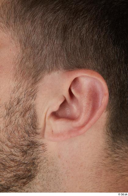 Ear Man White Casual Slim Street photo references