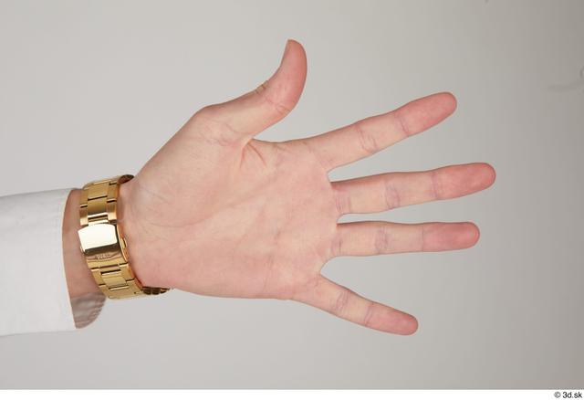 Hand Man White Slim Watch Street photo references