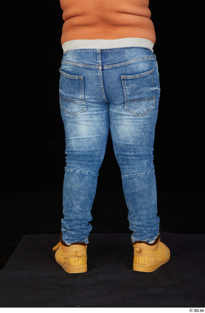Leg Man White Casual Jeans Overweight Studio photo references
