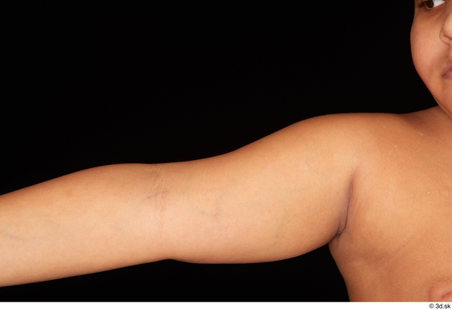 Arm Man White Nude Overweight Studio photo references