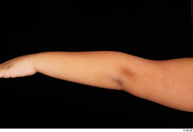 Forearm Man White Nude Overweight Studio photo references