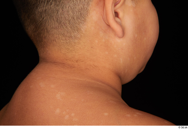 Neck Man White Nude Overweight Studio photo references