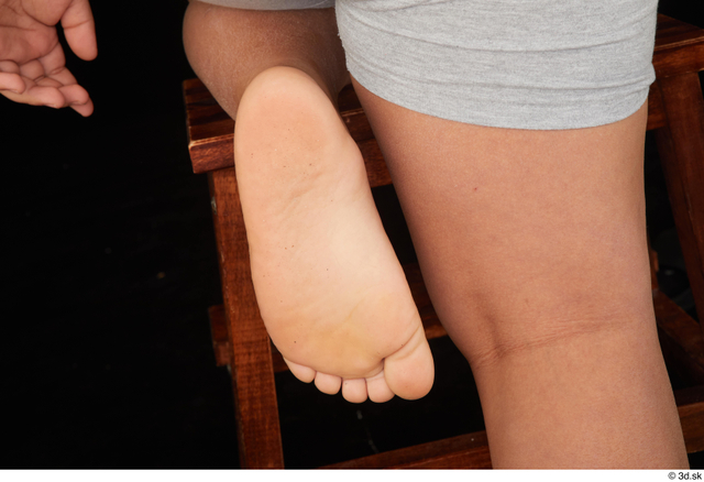 Foot Man White Nude Overweight Studio photo references