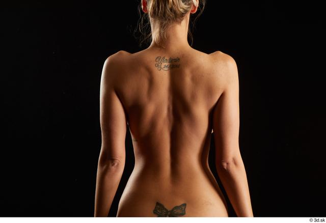 Arm Back Woman White Nude Slim Studio photo references