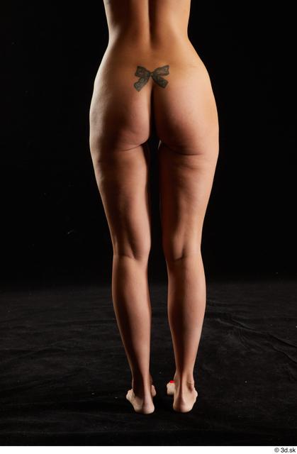 Hips Back Woman White Nude Slim Studio photo references