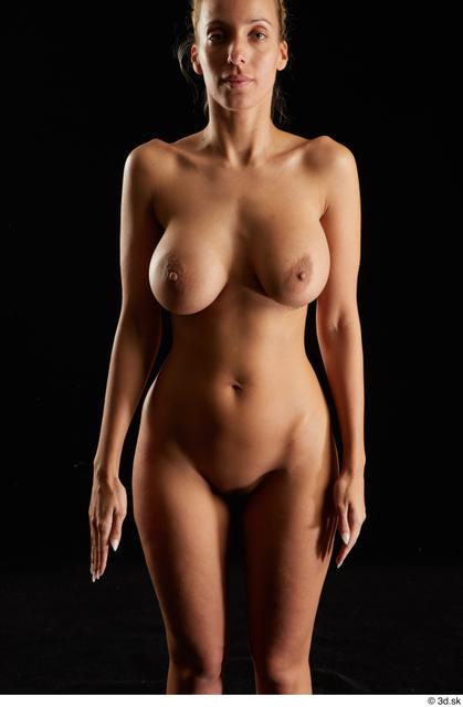 Woman White Nude Slim Studio photo references