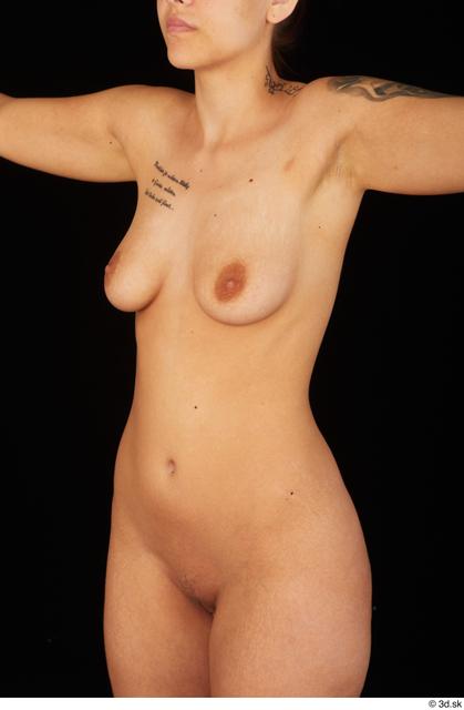 Upper Body Breast Woman White Nude Average Studio photo references