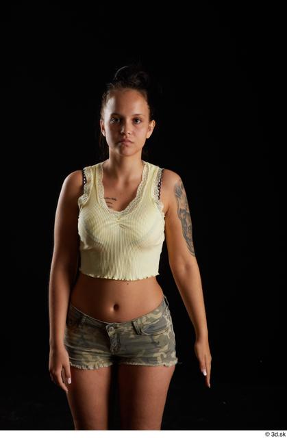 Arm Woman White Casual Average Top Studio photo references