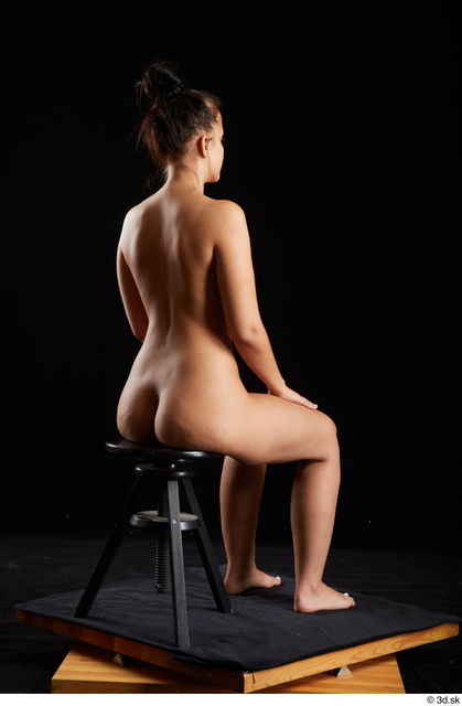 Whole Body Woman White Nude Average Sitting Studio photo references