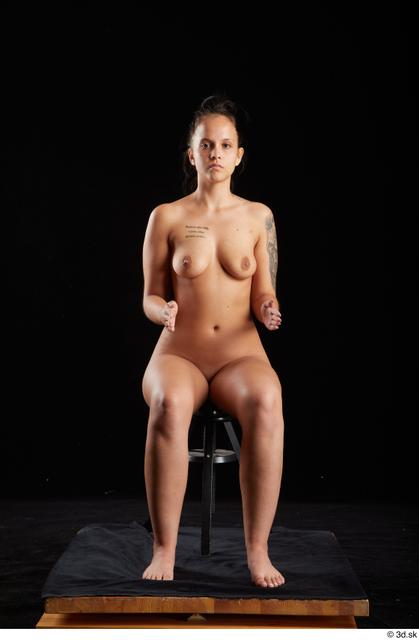 Whole Body Woman White Nude Average Sitting Studio photo references