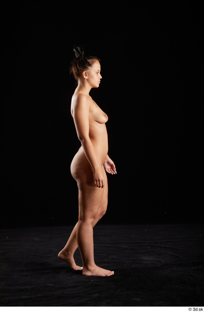 Whole Body Woman White Nude Average Walking Studio photo references