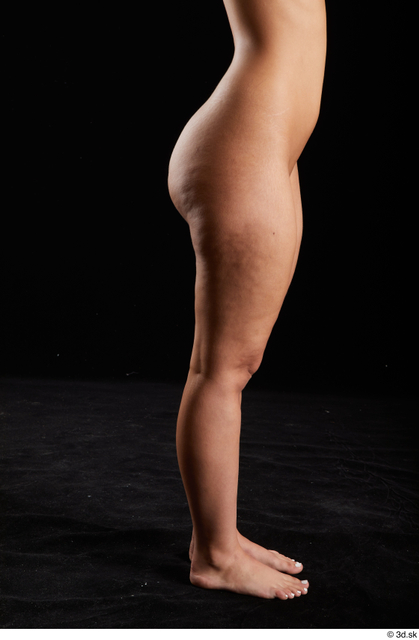 Calf Woman White Nude Average Studio photo references