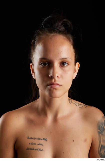 Head Woman White Average Studio photo references