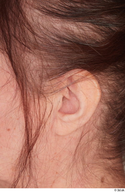 Ear Woman White Casual Chubby Street photo references