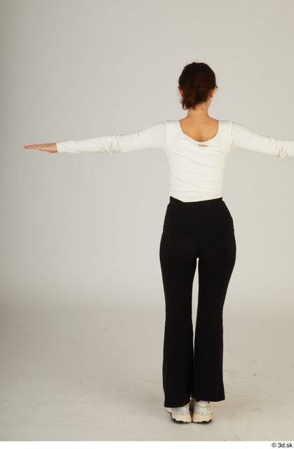 Whole Body Woman T poses White Casual Slim Standing Street photo references