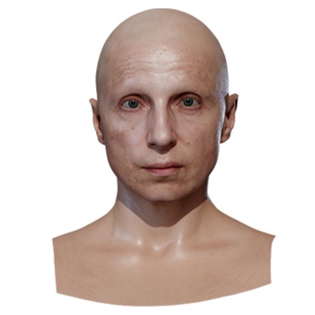 Retopologized 3D Head scan of Bradley