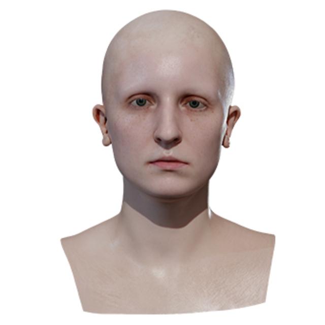 Retopologized 3D Head scan of Linda