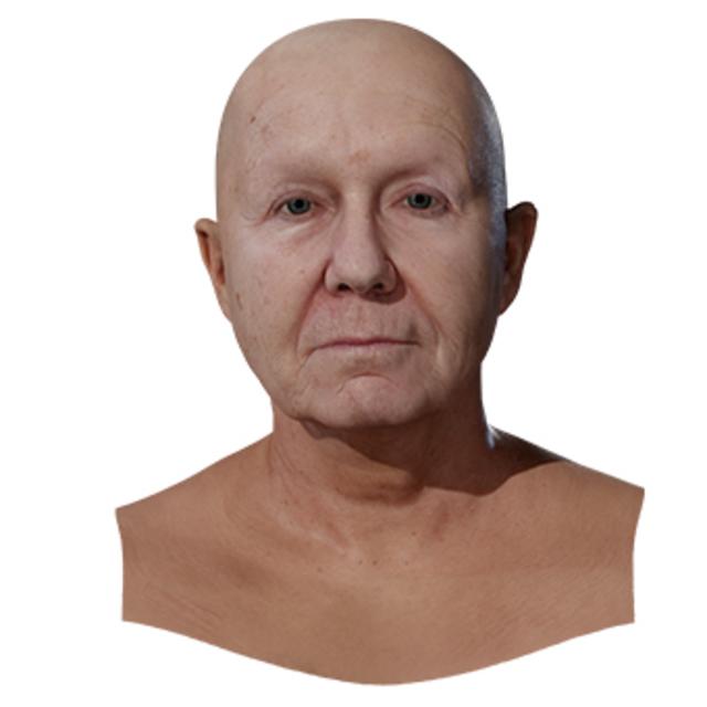 Head Woman White Bald 3D Retopologised Heads