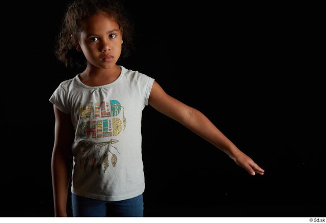 Arm Woman Black Casual Shirt Slim Studio photo references