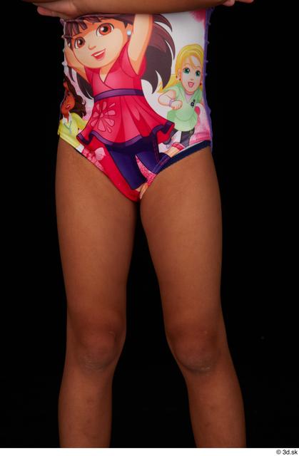 Thigh Woman Black Nude Swimsuit Slim Studio photo references
