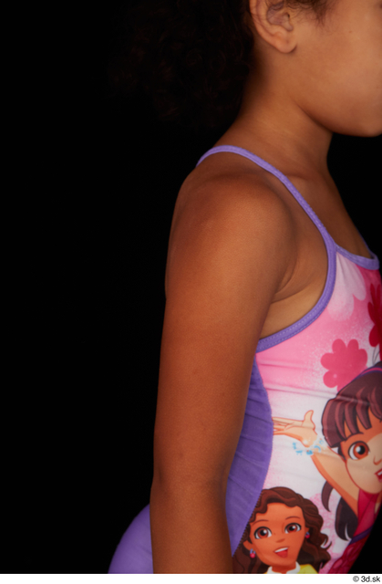 Arm Woman Black Nude Slim Studio photo references
