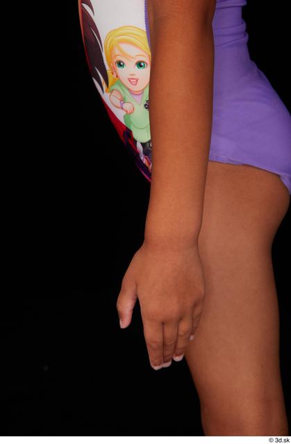 Forearm Woman Black Nude Slim Studio photo references