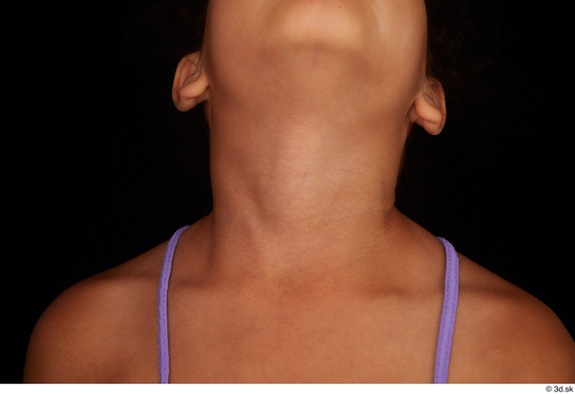 Neck Woman Black Nude Slim Studio photo references