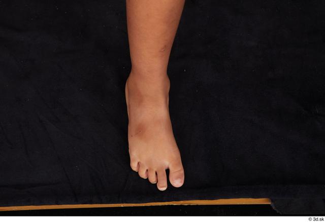 Foot Woman Black Nude Slim Studio photo references