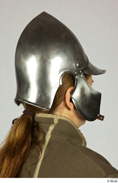 Head Woman White Historical Helmet Costume photo references