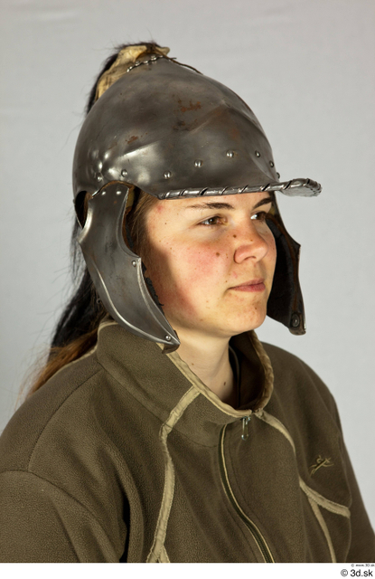 Head Woman White Helmet Costume photo references