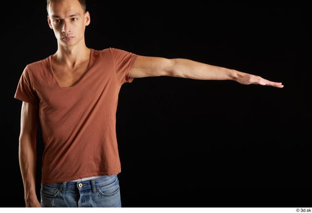 Arm Man White Casual Shirt Slim Street photo references