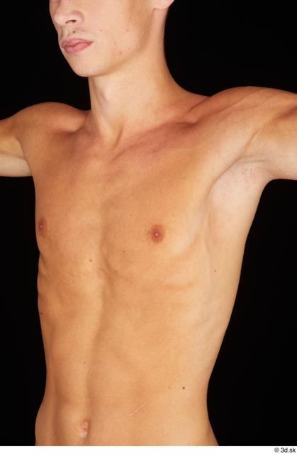 Chest Man Nude Slim Studio photo references