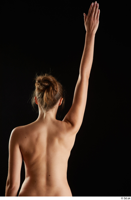 Arm Back Woman White Nude Slim Studio photo references