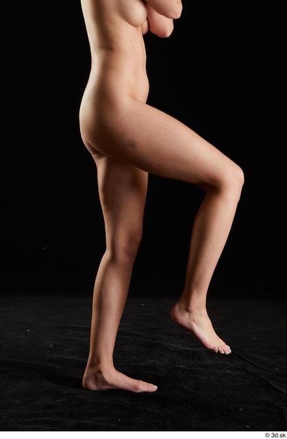 Leg Woman White Nude Slim Studio photo references