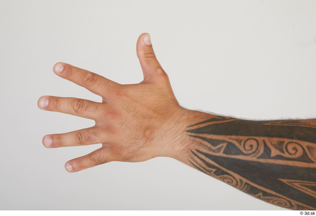 Hand Man White Tattoo Muscular Street photo references