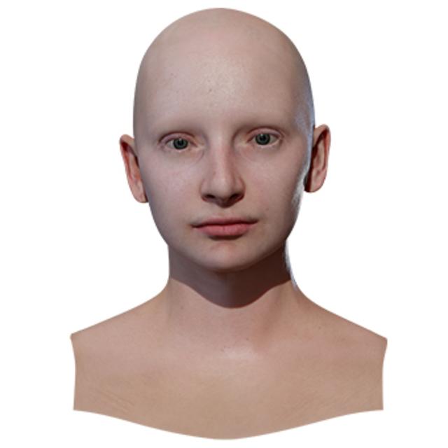 Retopologized 3D Head scan of InnaM