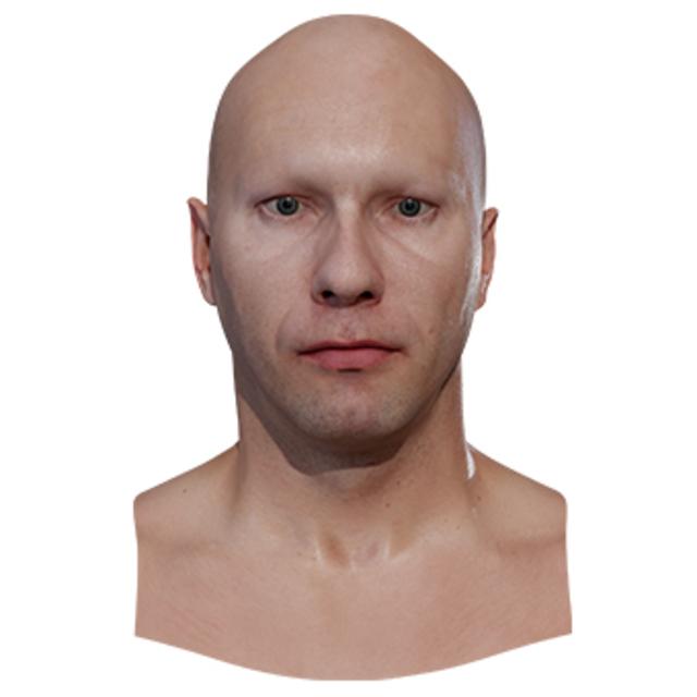 Retopologized 3D Head scan of JiriD