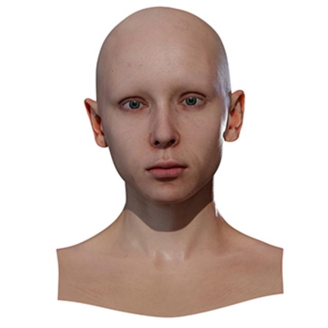 Retopologized 3D Head scan of MarikaV