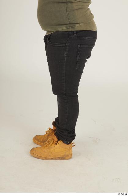 Leg Man White Casual Chubby Street photo references